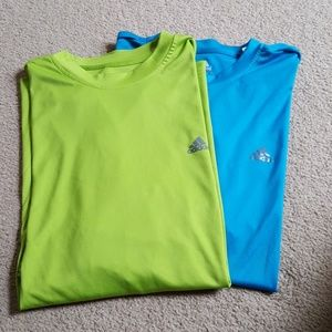 ADIDAS ClimaLite lot of 2 performance tees